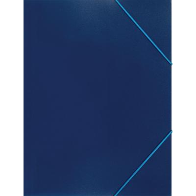 Папка на резинках Attache Economy A4 35 мм пластиковая до 300 листов синяя (толщина обложки 0.5 мм)