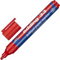 Маркер перманентный пигментный Edding E-33/002 красный (толщина линии 1,5-3 мм) скошенный наконечник