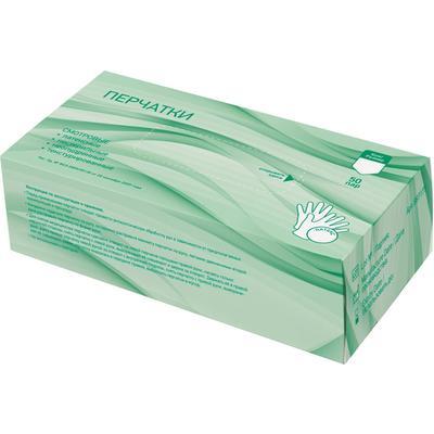 Перчатки медицинские смотровые латексные нестерильные неопудренные размер L (50 пар в упаковке)