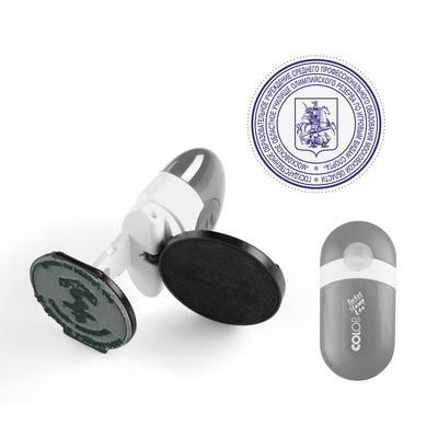 Оснастка для печати круглая Colop Pocket Stamp R40 40 мм серебристый