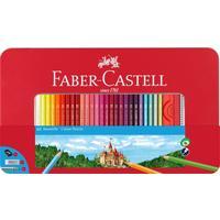 Карандаши цветные Faber-Castell 60 цветов шестиграные с ластиком и точилкой
