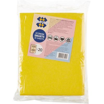 Салфетки хозяйственные Meule Econom Smarts вискоза 38x30 см 20 штук в упаковке