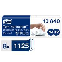 Салфетки бумажные Tork Xpressnap Universal N 4/N12 1-слойные 225 листов 5 пачек 8 упаковок 10840