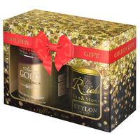 Кофе молотый Kimbo Gold 250 г + чай Riche Natur Ceylon 100 г (промоупаковка)
