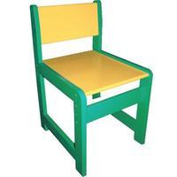 Стул детский регулируемый (рост 2-3 зеленый)/желтый)
