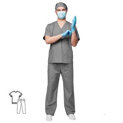Костюм хирурга универсальный м05-КБР серый(размер 60-62, рост  170-176)