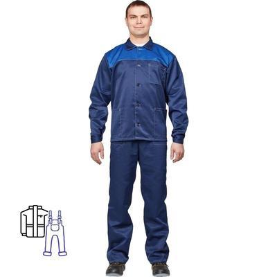 Костюм рабочий летний мужской л16-КПК синий/васильковый (размер 64-66, рост 158-164)