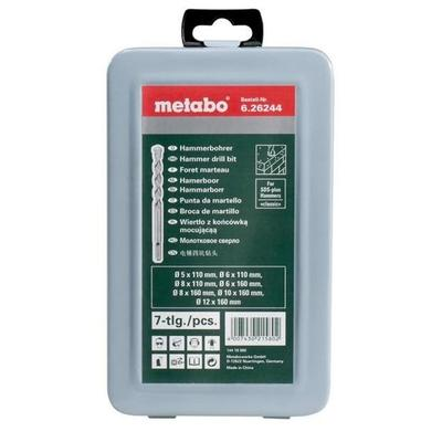Набор буров Metabo по бетону в пластиковом боксе 7 штук (артикул производителя 626244000)