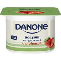 Йогурт Danone с клубникой 2.9% 110 г