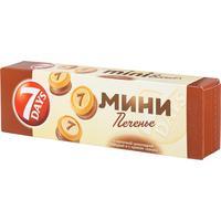 Печенье сдобное 7 days mini biscuits с шоколадной глазурью 100 г