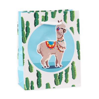 Пакет подарочный ламинированный Забавная лама (11.5x14.5x6 см, 12 штук в упаковке)