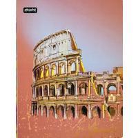 Скоросшиватель пластиковый с пружинным механизмом Attache Selection Travel Italy А4+ до 120 листов розовый (толщина обложки 0.5 мм)
