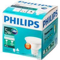 Лампа светодиодная Philips 5Вт GU5.3 спот 4000k нейтральный белый свет