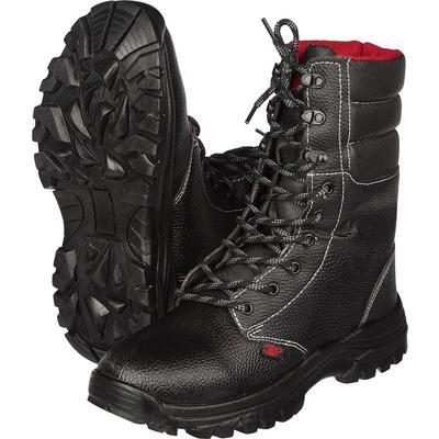 Ботинки с высокими берцами мужские ОМОН 1206 натуральная кожа черные размер 42