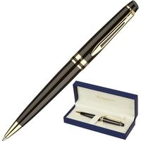 Ручка шариковая Waterman Expert цвет чернил синий цвет корпуса черный с позолотой (артикул производителя S0951700)