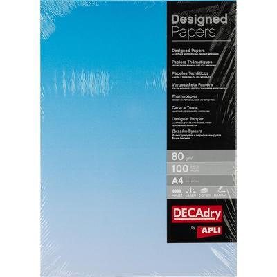 Дизайн-бумага Decadry синяя (A4, 80 г/кв.м, 100 листов в упаковке)