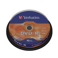 Диск DVD-R Verbatim 4,7 GB 16x (10 штук в упаковке)