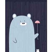 Тетрадь общая Academy Style Медвежья А5 48 листов в клетку на скрепке (обложка в ассортименте)