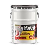 Эмаль для бордюров Alfavit Альфа черная 7 кг