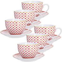 Сервиз чайный Loraine (28592) на 6 персон фарфор (6 чашек 220 мл, 6 блюдец 13.5 см)