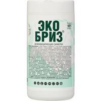 Салфетки влажные Экобриз дезинфицирующие туба (60 штук в упаковке)