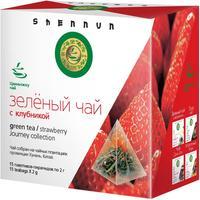 Чай Shennun зеленый с клубникой 15 пакетиков