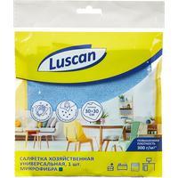 Салфетка хозяйственная Luscan микрофибра 30х30 см 300 г/кв.м синяя