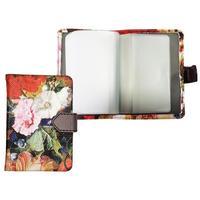 Визитница карманная Infolio Floria на 24 визитки из искусственной кожи разноцветная (IVZ001)