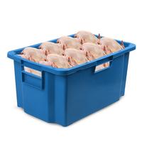 Ящик (лоток) мясной из ПНД 600x400x300 мм синий