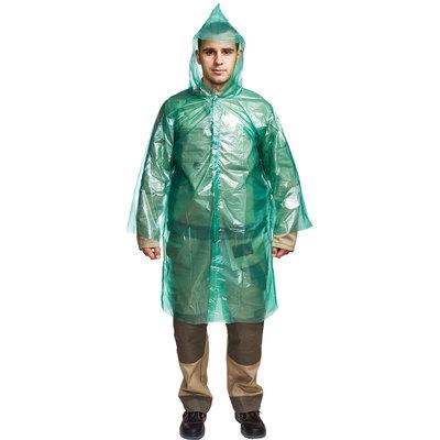 Плащ-дождевик полиэтиленовый с застежкой на липучке (плотный ПВД)