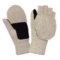 Перчатки рабочие Айсер шерстяные спилковая накладка утепленные (размер 11, XXL)