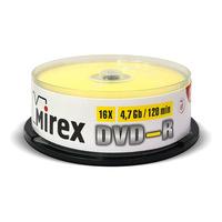 Диск DVD-R Mirex 4,7 GB 16x (25 штук в упаковке)