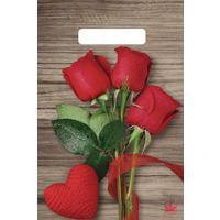 Пакет подарочный пластиковый Свежие розы (30х20 см, 100 штук в упаковке)