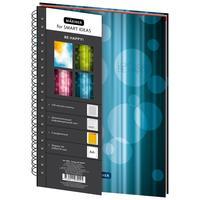 Бизнес-тетрадь Mariner Be Happy А4 120 листов синяя в клетку 3 разделителя на спирали (200х274 мм)