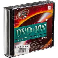 Диск DVD+RW VS 4,7 GB 4x (5 штук в упаковке)