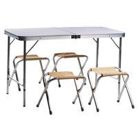 Комплект мебели 702 бежевый (стол, 4 стула)