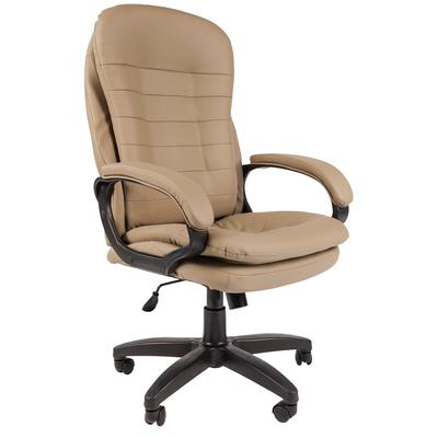 Кресло для руководителя Easy Chair 515 TPU бежевое (экокожа, пластик)