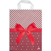 Пакет подарочный полиэтиленовый Жемчужный бант (35x28x2 см, 50 штук в упаковке)