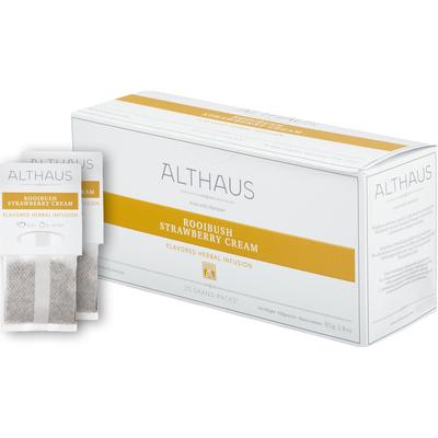 Чай Althaus Grand Pack Rooibush Strawberry Cream травяной 20 пакетиков