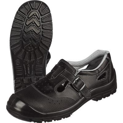 Полуботинки с перфорацией (сандалии) Standart-П натуральная кожа черные с металлическим подноском размер 39