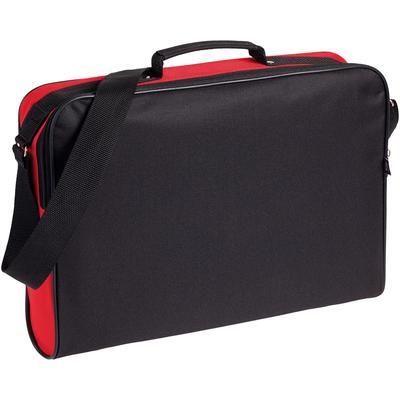 Конференц-сумка из полиэстера черная/красная (39x30x8 см)