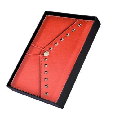 Ежедневник недатированный Феникс+ искусственная кожа A6+ 96 листов красный (110x180 мм)