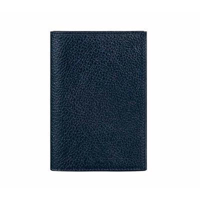 Обложка для паспорта Attache из натуральной кожи синего цвета (О.1.ВК)