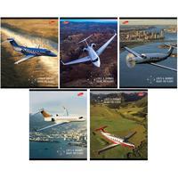 Тетрадь общая Academy Style Самолеты А5 80 листов в клетку на скрепке (обложка в ассортименте)
