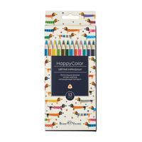 Карандаши цветные Bruno Visconti HappyColor 12 цветов трехгранные