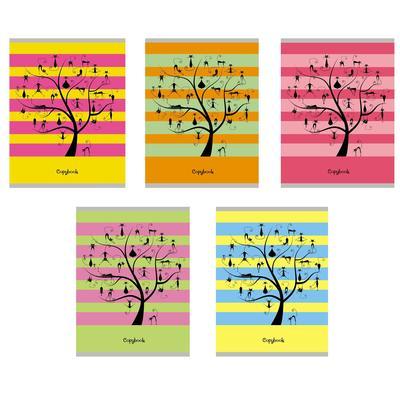 Тетрадь общая Канц-Эксмо Чудо-дерево А5 48 листов в клетку на скрепке (обложка в ассортименте)