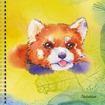 Скетчбук Paper Art Красная панда 165x165 мм 50 листов на спирали