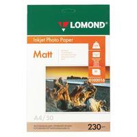 Фотобумага односторонняя матовая lomond А4 230 г/м2 0102016 (50 листов в упаковке)