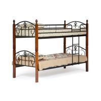 Кровать двухярусная Bolero (черная/красный дуб, 950х2100х780 мм)