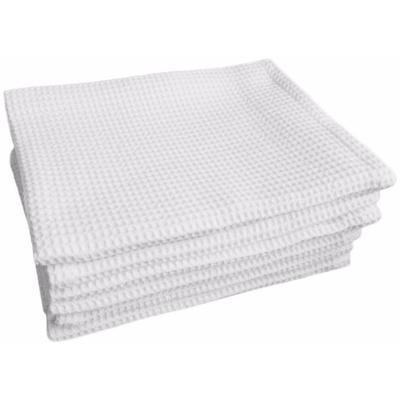 Полотенце вафельное 35х80 см 150 г/кв.м белое 10 штук в упаковке